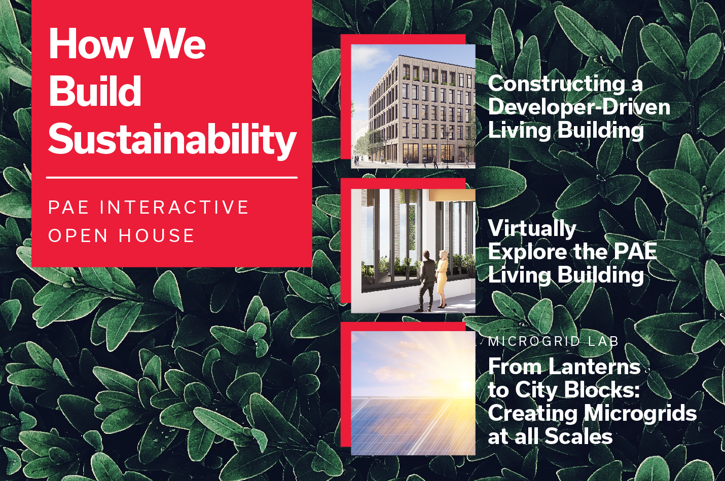 Sustainable Building Week 2019