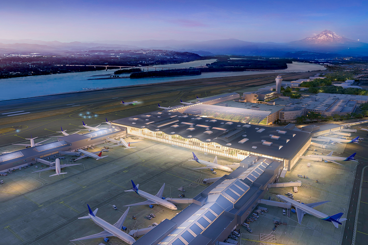 Portland International Airport, Terminal Expansion and Renovation. Image courtesy of ZGF Architects.